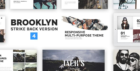 Brooklyn v4.2.5 – Responsive Multi-Purpose WordPress Theme