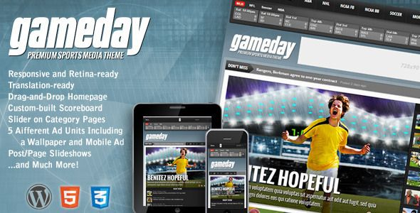 Gameday v3.02 – Themeforest WordPress Sports Media Theme