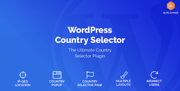 WordPress Country Selector v1.6.0 – 国家选择器