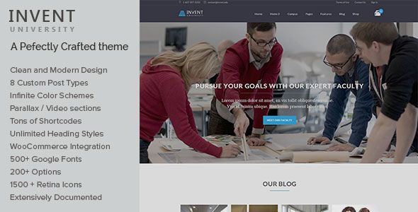 Invent v3.2 – Education Course College WordPress Theme