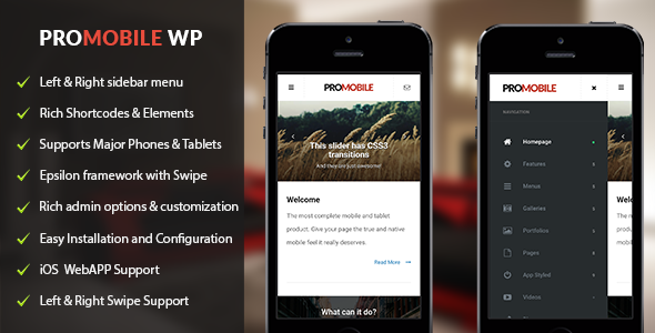ProMobile – Mobile and Tablet Responsive WordPress Theme