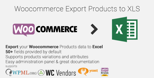 Woocommerce Export Products to XLS v0.5.9