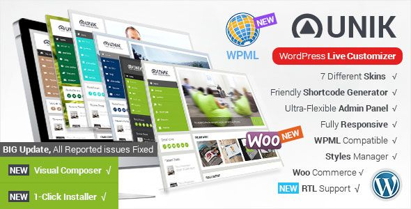 Unik v1.8.3 – Ultra-Customizable WordPress Theme