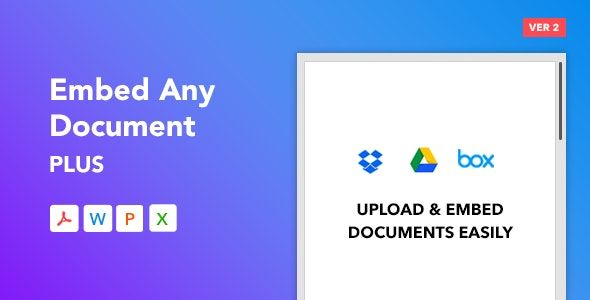 Embed Any Document Plus v2.2.3 – 嵌入任何文档WordPress插件