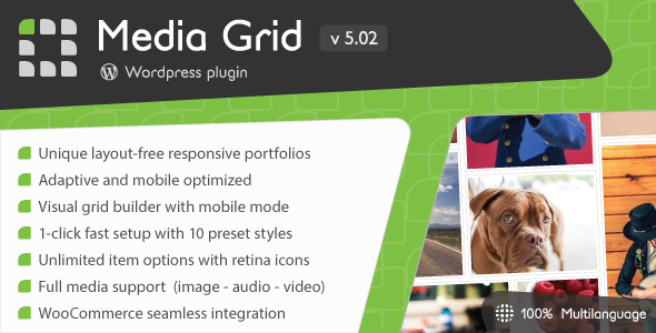 Media Grid v5.02 – WordPress Responsive Portfolio