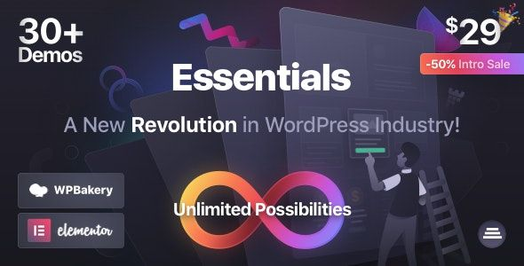 Essentials v1.0.3 – 多用途WordPress主题