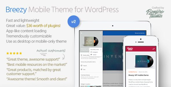 Breezy v2.0 – Mobile Theme for WordPres