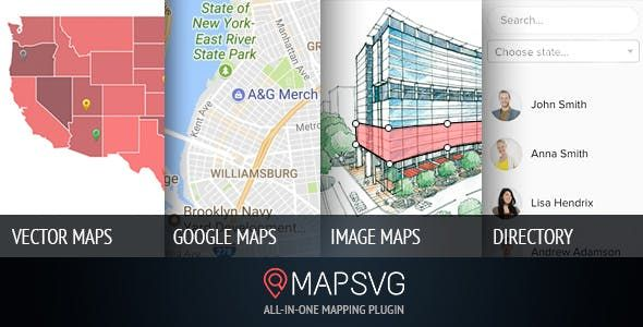 MapSVG v5.14.0 – WordPress地图插件
