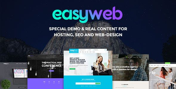 EasyWeb v2.1.9 – WP Theme For Hosting, SEO and Web-design