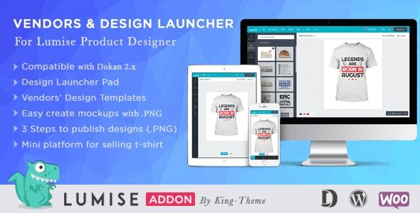 Vendors & Design Launcher v1.0 – LUMISE产品设计附加组件