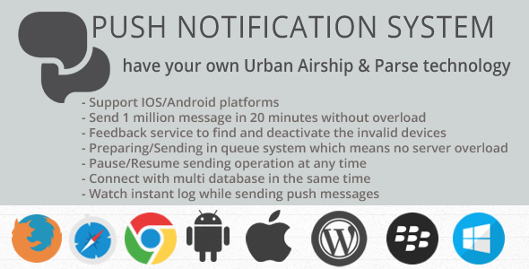 Desktop & Mobile Push Notification System v5.9.1