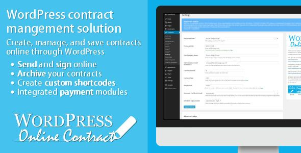WP Online Contract v4.0