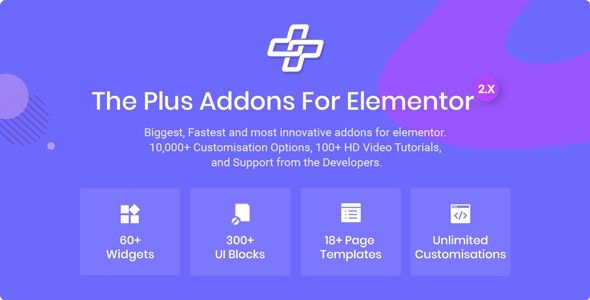 The Plus v3.3.0 – Elementor页面生成器WordPress附加组件