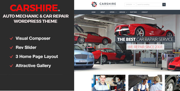 Car Shire v1.3 – Auto Mechanic & Car Repair Theme