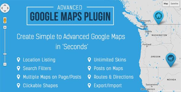 Advanced Google Maps Plugin for WordPress v3.4.5