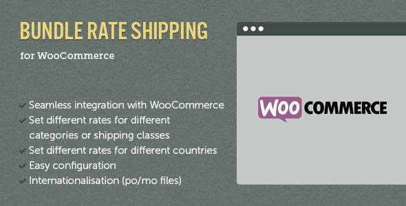 WooCommerce E-Commerce Bundle Rate Shipping v2.0.3