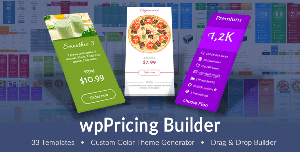 wpPricing Builder v1.4.1 – WordPress Responsive Pricing Tables
