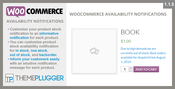 WooCommerce Availability Notifications v1.1.5