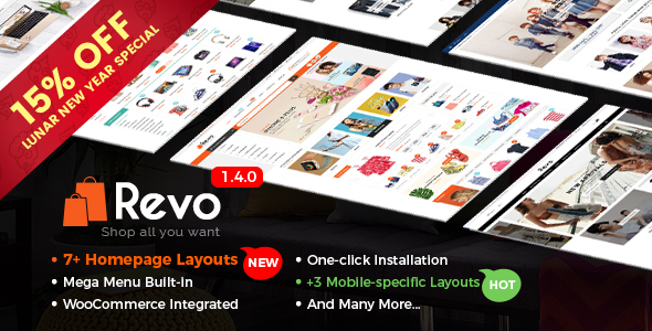 Revo v1.4.1 – Multi-Purpose Responsive WooCommerce Theme