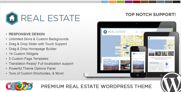 WP Pro Real Estate 3 v1.5.0 – Responsive WP Theme