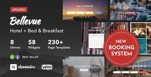 Bellevue v3.2.9 – Hotel + Bed and Breakfast Booking Calendar Theme