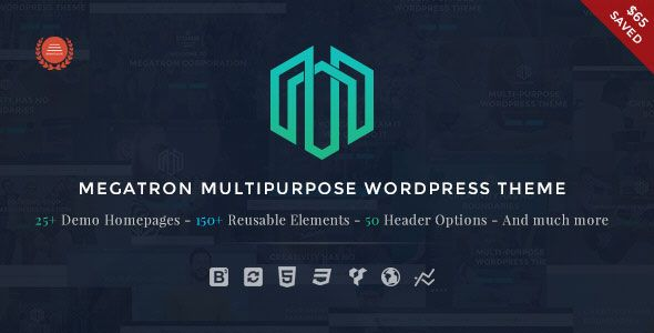 Megatron v2.3 – Responsive MultiPurpose WordPress Theme