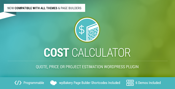 Cost Calculator v2.2.8 – WordPress费用计算插件