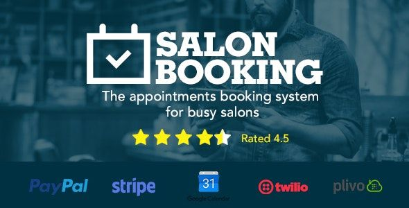 Salon Booking v3.3.8 – WordPress沙龙预订插件