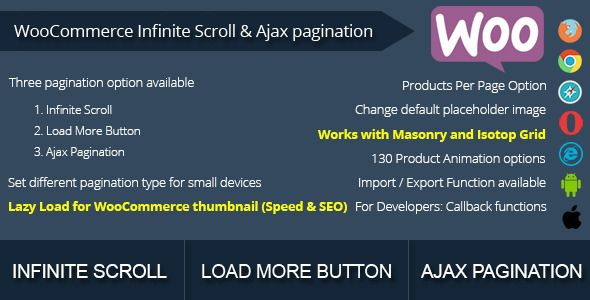 WooCommerce Infinite Scroll and Ajax Pagination v1.1