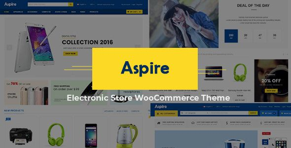 Aspire v4.8 - 电子商店WooCommerce WordPress主题