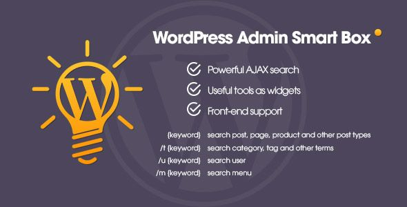 WP Admin Smart Box – Powerful AJAX search & tools