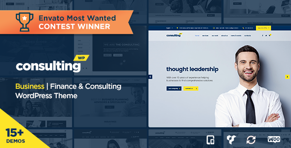 Consulting v3.6- Business, Finance WordPress Theme