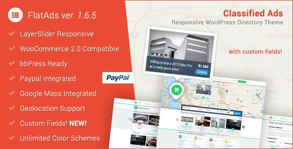 FlatAds v1.6.6 – Classified AdsWordPress Theme