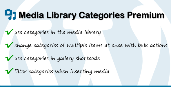 Media Library Categories Premium v2.1.6
