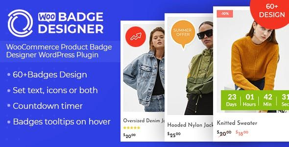 Woo Badge Designer v3.0.0 – WooCommerce产品标识设计WordPress插件