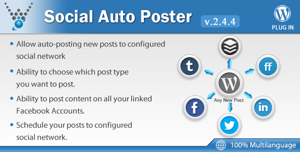 Social Auto Poster v2.4.4 – WordPress Plugin