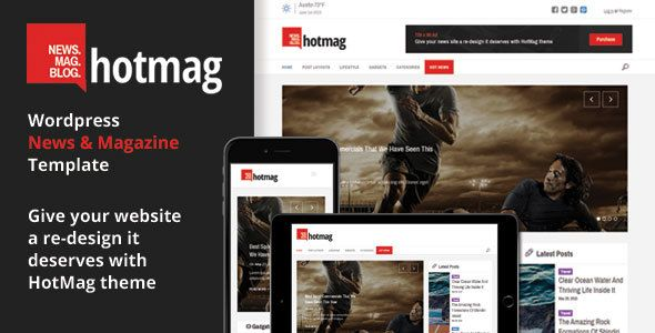 HotMag v1.9 – Responsive WordPress News, Magazine WP Theme