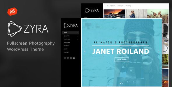 Zyra v2.3 – Fullscreen Photography Theme