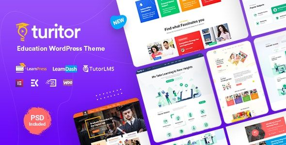 Turitor v1.1 – LMS/教育WordPress主题