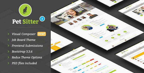 PetSitter v2.0.3 – Job Board Responsive WordPress Theme