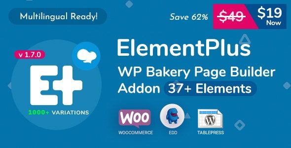 Element Plus v1.7.0 - WPBakery页面构建器组件