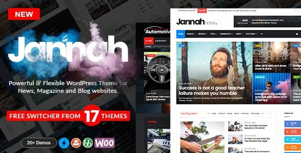Jannah v1.1.1 – WordPress News Magazine Blog & BuddyPress