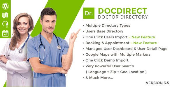 DocDirect v3.5 – Responsive Directory WordPress Theme