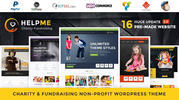 HelpMe v2.1 – Nonprofit Charity WordPress Theme