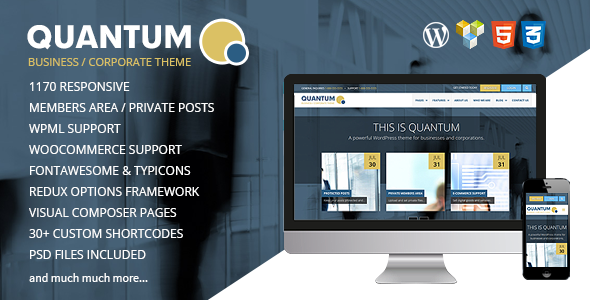 QUANTUM v2.0.2 – Responsive Business WordPress Theme