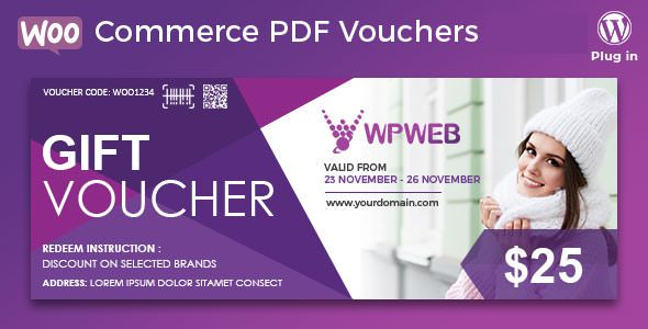 WooCommerce PDF Vouchers v4.0.0 – WordPress优惠券插件