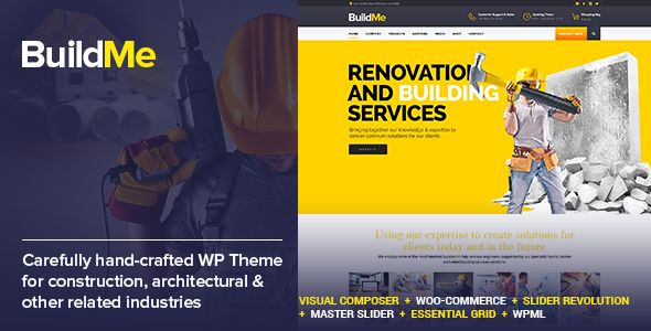BuildMe v2.6 – Construction & Architectural WP Theme