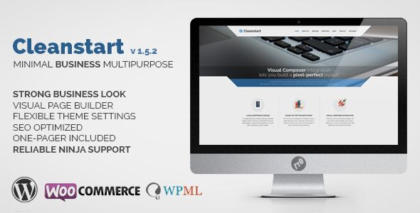 CLEANSTART v1.5.2 – Clean Multipurpose Business Theme
