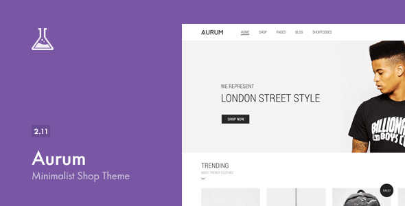 Aurum v2.11 – Themeforest Minimalist Shopping Theme