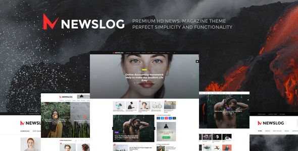 Newslog v1.1.0 – Clean News & Magazine WordPress Theme